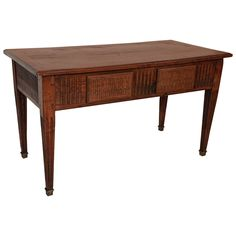Oak Two Drawer Console Table