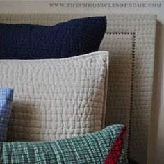 {DIY} Upholstered Headboard With Nailhead Trim - The Chronicles of Home