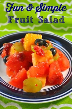 easy fruit salad recipe fun fruit facts
