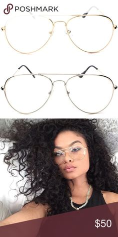 Retro Clear Lens Aviator Frames Cheaper through my online site, link in bio. Comes in two different colors Accessories Glasses