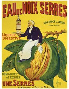 ¤ Eau de Noix Serres, liqueur digestive. Valence d'Agen. Demandez et exigez une Serres. Marque d'eau de noix.