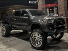 """2021 Toyota Tacoma - 24x14 -76mm - RBP Forged Glock - Suspension Lift 6"""" - 35"""" x 13.5"""" Tyre Brands, Aftermarket Wheels, Toyota Tacoma, Custom Trucks, Performance Parts, Gallery, Roof Rack, Tacoma World"""