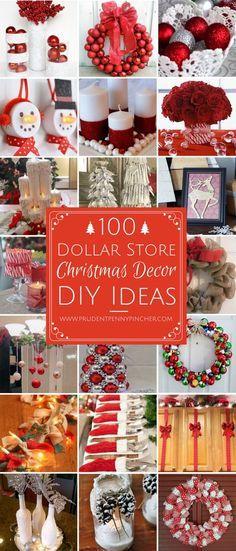 dollar store Christmas decor diy ideas