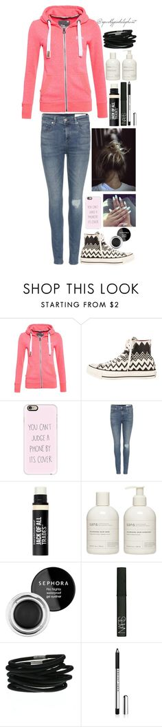 """""""""""Life is tough, my darling, but so are you""""- Stephanie Bennett-Henry"""" by sparklypinkelephant ❤ liked on Polyvore featuring Superdry, Converse, Casetify, rag & bone, Bare Escentuals, Sans [ceuticals], Sephora Collection and NARS Cosmetics"""