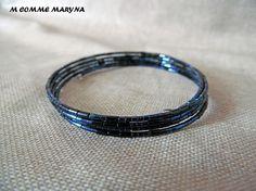 Scarab Bracelet, Blue Beads, Boho Fashion, Boho Chic, Beaded Bracelets, Perfume, Etsy, Jewelry, Handicraft