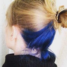 Blue hair underlayer