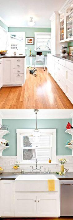Ben Moore Arctic Blue 25-beautiful-paint-colors-for-kitchen-cabinets-apieceofrainbowblog (6)