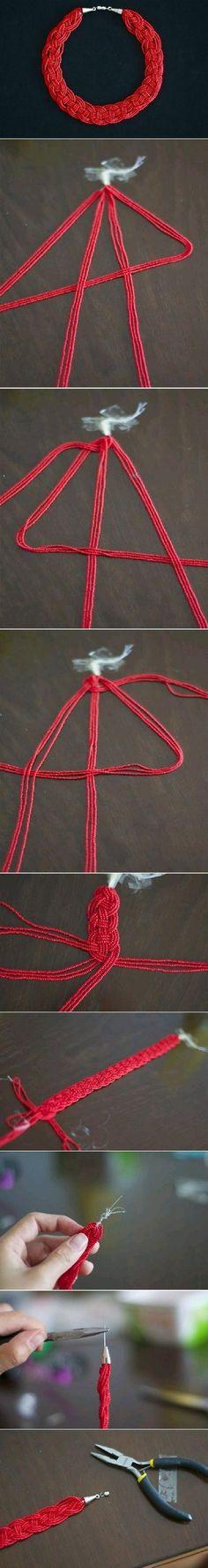 DIY como hacer un collar trenzado