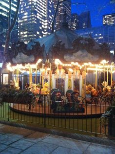 Bryant Park Carousel by Night.