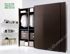 Với thiết kể tủ quần áo gỗ công nghiệp hiện đại giúp phân chia đồ dùng dễ dàng hơn