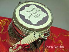 Preparto per cioccolata calda in barattolo