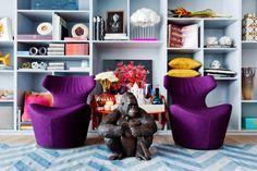 Passarelli Studio. PAS 18.11 - Trump - Miami. Colorful decor. #architecture #purple #blue #fancy #cool