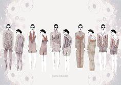 Fashion Portfolio - fashion design lineup for Sophia Kokosalaki - fashion illustration; fashion sketchbook // Masako Kondo