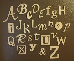 Small Wooden Alphabet Letters Set Unfinished by RusticPineDesigns, $50.00