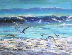 "Saatchi Art Artist Carmen Beecher; Painting, ""Breakfast Club"" #art"