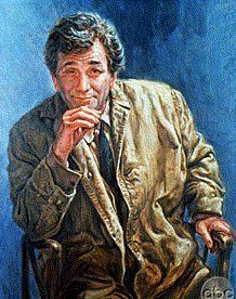 "The Art of Film : Columbo Painting in ""Murder, a Self Portrait"" Detective Series, Homicide Detective, True Detective, Caricatures, Columbo Tv Series, Assassin, Columbo Peter Falk, Tv Detectives, Murder Mysteries"