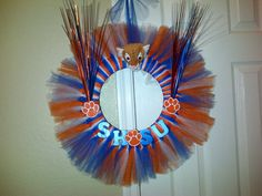 Collegiate wreath-Sam Houston University by Tulle Kreations