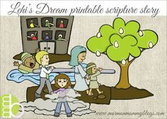 Book of Mormon and other scripture stories - printable playsets, perfect for FHE for young kids