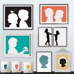 I just like the idea of putting a child in each frame/ could do with a photo. DIY