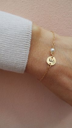 Baby Bracelet, Initial Bracelet, Bridesmaid Bracelet, Initials, Trending Outfits, Unique Jewelry, Bracelets, Handmade Gifts, Bridesmaids