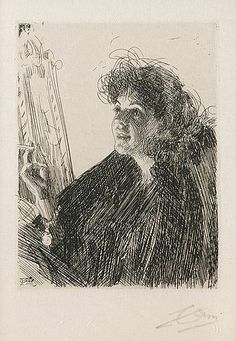 "Anders Zorn (Swedish, 1860-1920), ""Girl with a Cigarette I,"" 1891."