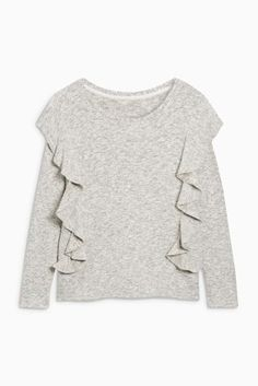 Buy Grey Cosy Ruffle Top from the Next UK online shop