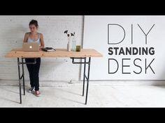 The Helpful of tabletop standing desk — Design Roni Young Diy Standing Desk, Standing Desk Diy Adjustable, Standing Desk Height, Ikea, Pipe Desk, Pipe Lamp, Sit Stand Desk, Desk Plans, Table Plans