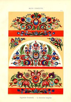 Magyar Ornament, Part 2 Hungarian Embroidery, Folk Embroidery, Learn Embroidery, Embroidery For Beginners, Flower Embroidery, Chain Stitch Embroidery, Embroidery Stitches, Machine Embroidery, Embroidery Designs