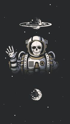 Space Skeleton wallpaper by Imperfectress - 32 - Free on ZEDGE™ Iphone Wallpaper Vsco, Aesthetic Iphone Wallpaper, Galaxy Wallpaper, Aesthetic Wallpapers, Wallpaper Backgrounds, Phone Backgrounds, Gothic Wallpaper, Graffiti Wallpaper, Skull Wallpaper