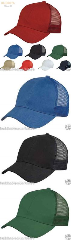 Mens Accessories 45053: 1 Dozen Light Weight Brushed Cotton Mesh Baseball Hats Cap Caps Wholesale Bulk -> BUY IT NOW ONLY: $44.99 on eBay!