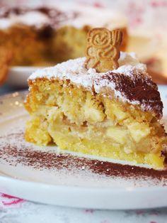 Spekulatius-Apfelkuchen Vegan Cake vegan cake no eggs Brownie Recipes, Cupcake Recipes, Cookie Recipes, Snack Recipes, Dessert Recipes, Dessert Blog, Cheesecake Recipes, Chocolate Brownie Cookies, Cookie Brownie Bars