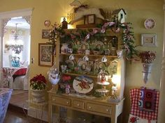 Christmas cabinet...cherry hill blog