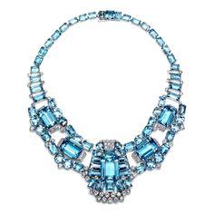 Image detail for -cartier art deco aqua diamond necklace brooch cartier art deco