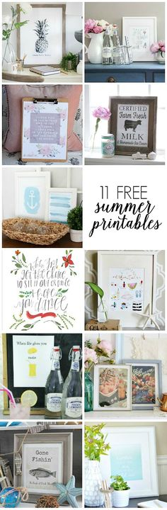Diy Crafts Ideas 11 Free Summer Printables eclecticallyvinta… -Read More – Diy And Crafts, Paper Crafts, Free Summer, Summer Art, Summer 2016, Free Prints, Printable Wall Art, Making Ideas, Free Printables