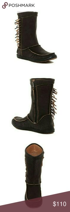 BNWT Little Girls EURO Size 29 AUS Size 11 Cute Black Zip Side Short Lined Boots