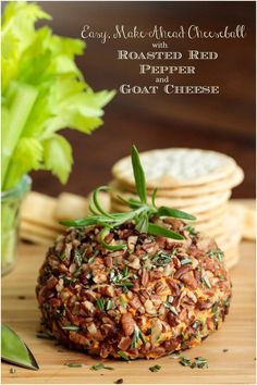 A quick, easy, super delicious appetizer that will bring wows! This make-ahead Roasted Red Pepper Goat Cheese Ball is party-perfect! Cold Appetizers, Cheese Appetizers, Appetizers For Party, Appetizer Recipes, Christmas Appetizers, Christmas Parties, Cheese Ball, Goat Cheese, Easy Cheeseball