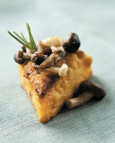 Pumpkin Polenta Cakes with Wild Mushrooms - FEAST Magazine | Inspired Food Culture/St. Louis: Recipes