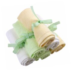 The absolute softest, premium bamboo washcloths available in pink, blue or gender neutral yellow/green/white. Your baby and you will LOVE these! Reduce bath time fuss and tears and experience the joy of bamboo. Perfect baby shower gift!
