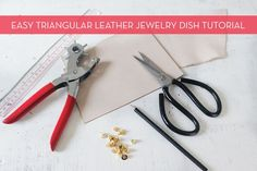 How-To: Glam DIY Leather Jewelry Dish