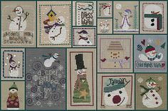 Garden Grumbles and Cross Stitch Fumbles: January 2012 - Blog Header - Snowmen