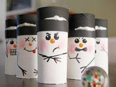 Resultado de imagen para manualidades con rollos de papel higienico para navidad
