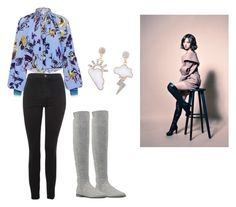 """""""Bo Mi's casual wear"""" by pantsulord on Polyvore featuring Nine West, TIBI and Topshop"""
