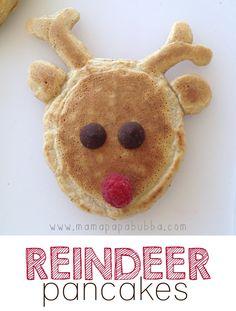 How to make reindeer pancakes - fun Christmas food for kids