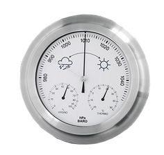 outside Weather-Station (ALU) Barometer / Hygrometer / Thermometer all in ONE DIA: Made in Germany 2 Years Guarantee Cooking Timer, All In One, The Outsiders, Germany, Clock, Weather, Watch, Deutsch, Clocks