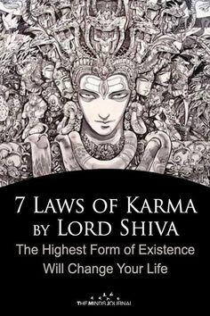 7 Laws of Shiva Karma by Lord Shiva That'll Change Your Life - 7 Laws of Karma by Lord Shiva — the Highest Form of Existence Will Change Your Life - Arte Shiva, Mahakal Shiva, Shiva Art, Krishna, Hanuman, Shiva Statue, Shiva Meditation, Shiva Yoga, Rudra Shiva