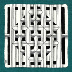 B'Twined & Navaho. The strings in pencil draw a square with their vertices at the midpoints of the sides of the tile. That square is…