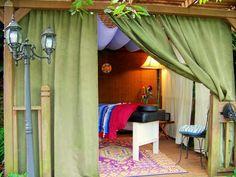 Possible Outdoor Massage Room Massage Room Decor, Massage Therapy Rooms, Treatment Rooms, Massage Treatment, Massage Business, Spa Rooms, Relax, Spa Massage, Room Accessories