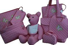 #maruzubiriadf #babygirl #baby #pink #babystuff #bag #laundry #bib #butterfly #teddybear #customizeyourlife #mynameonit