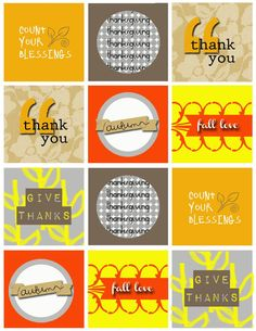 Freebie: Be Thankful Cupcake Toppers