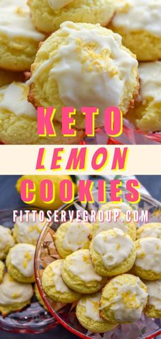 These thick and soft keto lemon cookies are sure to become a low carb favorite. They are bursting with lemon flavor and have a zesty lemon icing that lemon lovers can't get enough of. Lemon Desserts, Low Carb Desserts, Low Carb Recipes, Healthy Recipes, Healthy Baking, Healthy Food, Cookie Recipes, Dessert Recipes, Cookie Ideas